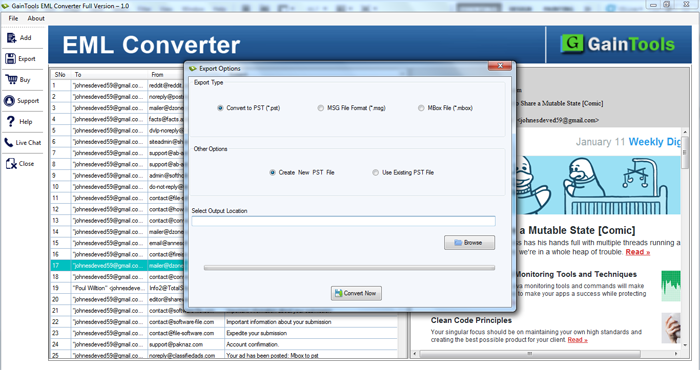 SameTools EML to Outlook PST Converter full screenshot