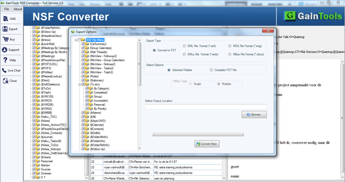 SameTools NSF to PST Converter Demo full screenshot