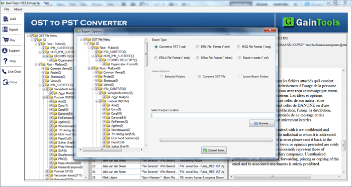 SameTools OST to PST 2010 Converter full screenshot