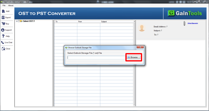 SameTools OST para PST conversor 2.0 full screenshot