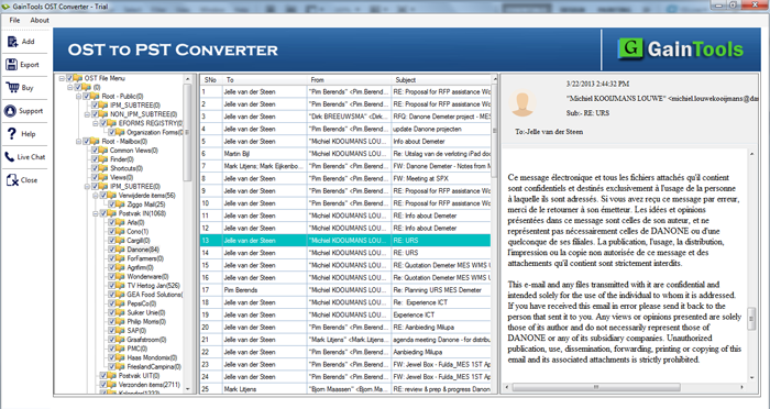 SameTools OST a PST Conversor Línea full screenshot